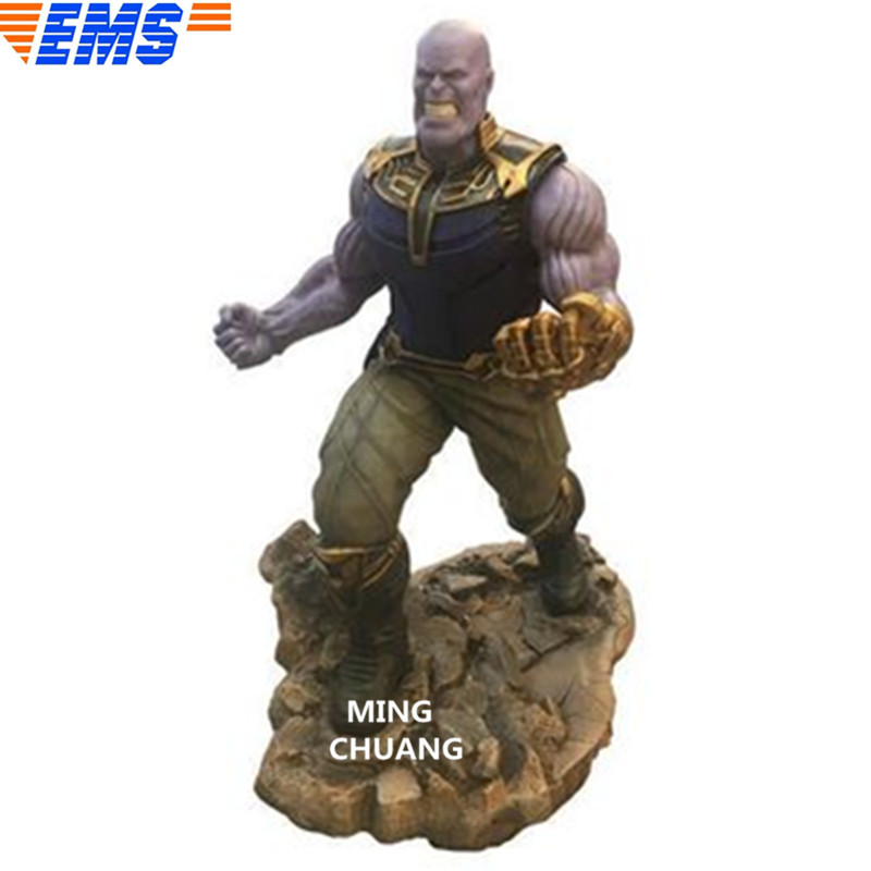 Statua Avengers Infinity Guerra Busto Thanos Full-Length Ritratto Iron Man Nemico PVC Action Figure Da Collezione Model Toy BOX d839