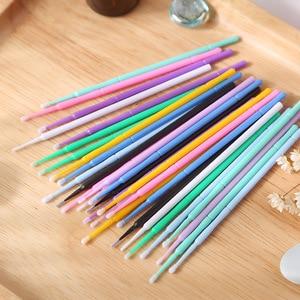 Image 2 - 1000pcs/pack Disposable Makeup Brushes Swab Microbrushes Eyelash Extension Tools Individual Lash Removing Tools