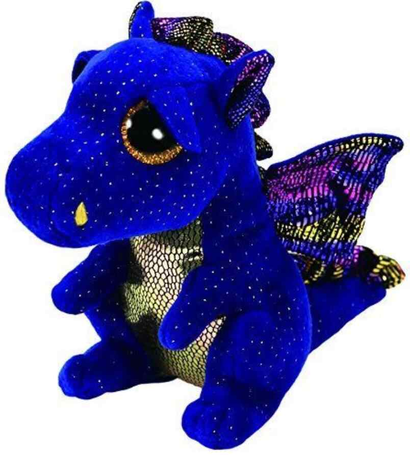 "6 ""TY Boo Gorro de Saffire o Dragão azul Big Glitter Eye 15 centímetros Plush Stuffed Animal Toy Collectible presente de natal Para Crianças"