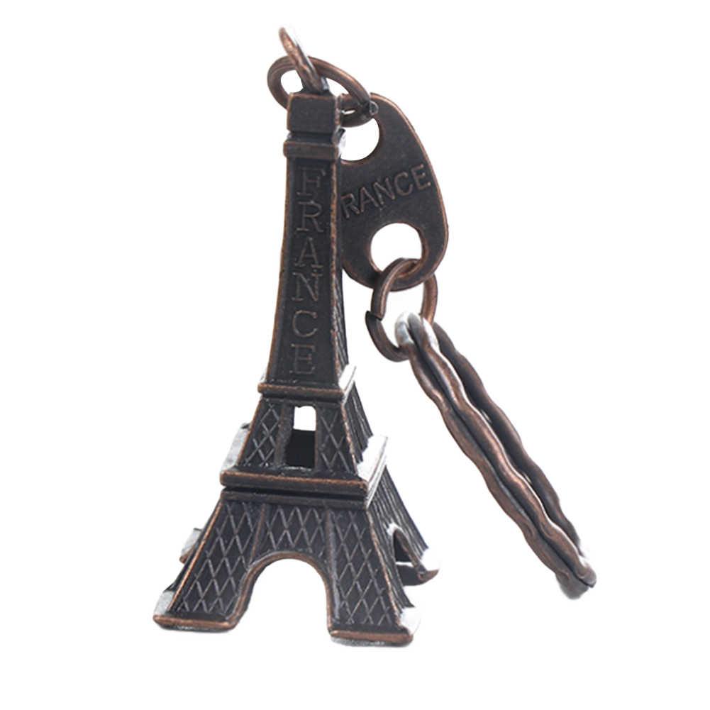 Retro Cổ Điển Tháp Eiffel Móc Khóa Quà Tặng Lưu Niệm Chìa Khóa Chians Vintage Móc Khóa Treo Trang Trí Quà Tặng Lạnh/Đồng/Bạc