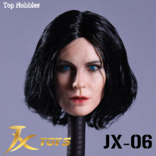 JXtoys 06 1/6 Underworld Selena Katee Beckinsale Head Sculpt Caving for 12inch Phicen Verycool Jiaoudoll Action Figure DIY(China)