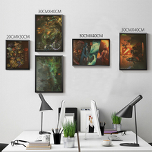 Living room home wall decoration retro poster DOTA 2 DotA Defense of the Ancients Heroes vintage Poster