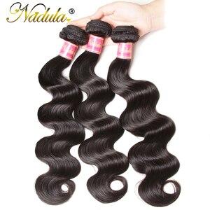 Image 3 - Nadula Haar 1 Bundel Braziliaanse Body Wave Haar Weven Natuurlijke Kleur Braziliaanse Haar Weefsel Bundels 100% Remy Human Hair Extensions