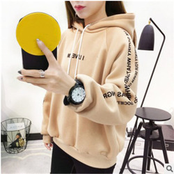 MoneRffi Letter Hoodies Women Printed Fashion Pullovers 2018 Krean Style Oversized Sweatshirts Femme Loose Casual Streetwear 2