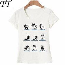 db511d5b5e1eb Не плохой Хаски упражнения футболка Для женщин футболка модные дамские  летние футболка веселый пес, дизайн