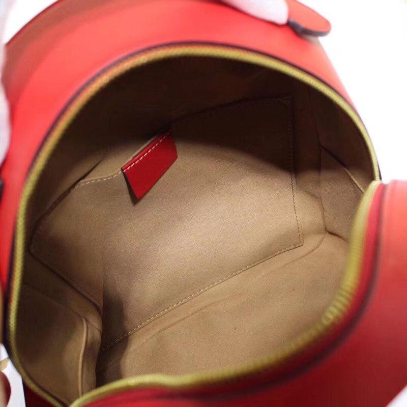 Célèbre marque sac à dos 2019 haute qualité à la mode en cuir véritable femmes sac nouveau Style à la mode de luxe Mini femmes sac à dos-in Sacs à dos from Baggages et sacs    2