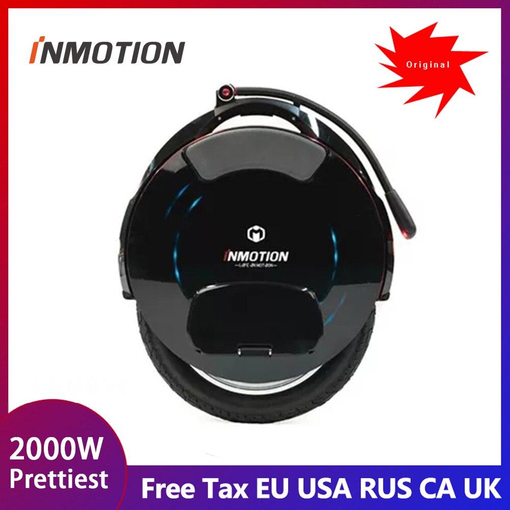 Le plus récent monocycle électrique INMOTION V10/V10F, moteur d'équilibre de roue unique 2000 W, vitesse 40 km/h, 960WH, application intelligente livraison gratuite et taxe