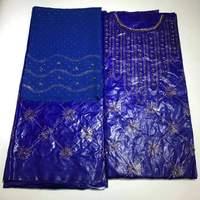 Бесплатная доставка Африка бязь брокад Richer Getzner камни бусины Гвинея бассейна одежды кружево материалы 3 + 2 ярдов в комплекте для платье
