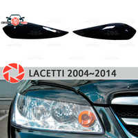 Cejas para Chevrolet Lacetti 2004 ~ 2014 Sedan para faros cilia pestañas de plástico molduras decoración cubiertas de adorno para el estilo del coche