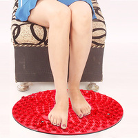 Tpe Round Reflexology Foot Massage Pad Toe Pressure Plate Mat Blood Circulation Shiatsu Sheet Health Tools