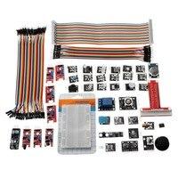 37 Sensor Module Kit For Arduino For Raspberry Pi Model B+ With GPIO Extension Jumper for Beginners Learning