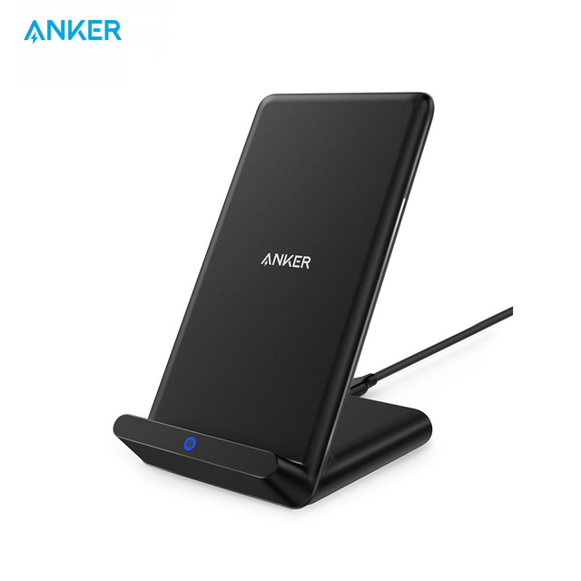 Anker Qi Certified Wireless Charger for iPhone 11, Pro, 8/8 Plus Samsung Galaxy  S10 S9 S8, PowerPort Wireless 5 Stand