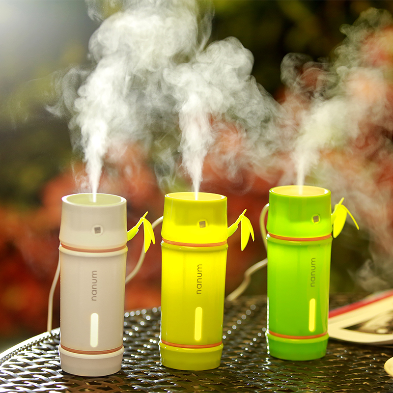 New Creative Bamboo Humidifier Home Office Mini Aroma Diffuser LED Night Light Aromatherapy Mist Maker USB Car Oxygen Bar