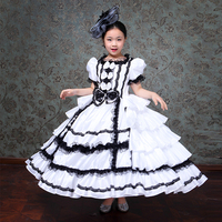 Kids Party Dress White Color and Bowknot Patterns