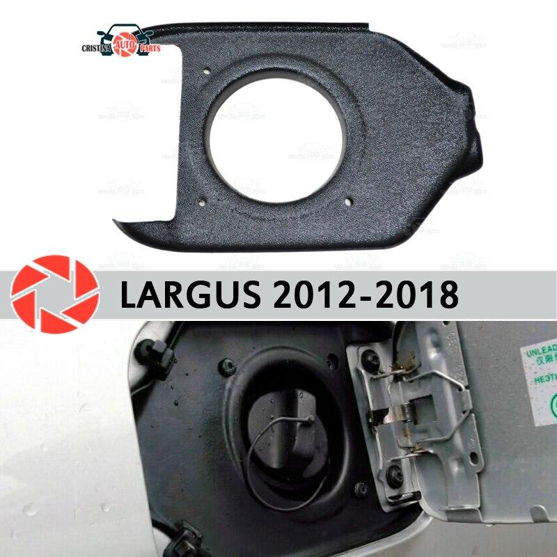 Cobrir na abertura da escotilha de combustível para Lada Largus 2012-2018 guarnição de proteção acessórios car styling decoração enchimento pescoço