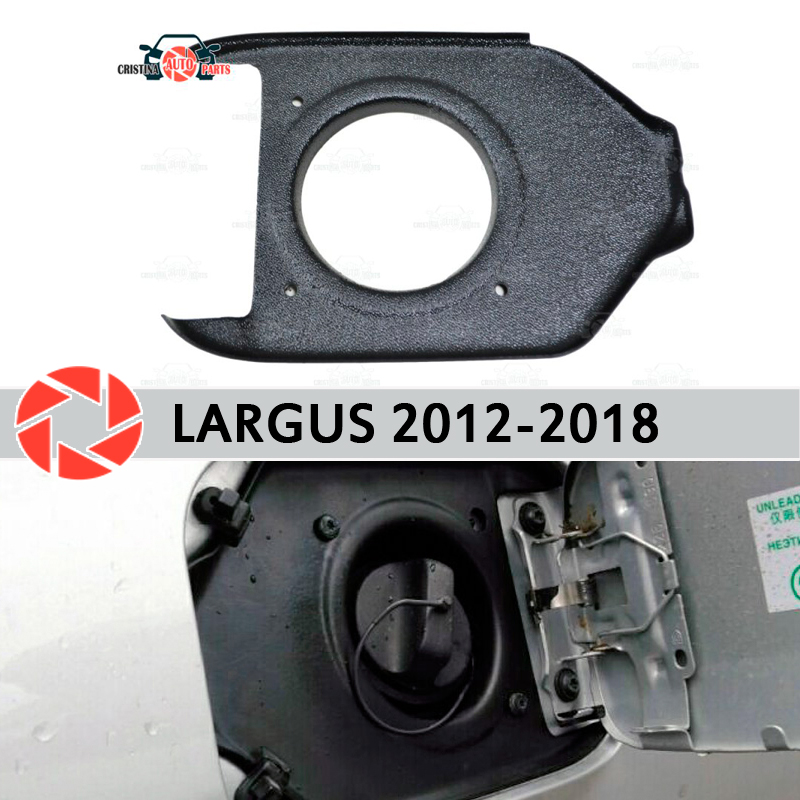 Cubierta en la escotilla de apertura combustible para Lada Largus 2012-2018 accesorios de ajuste protección de estilo de coche decoración cuello de relleno