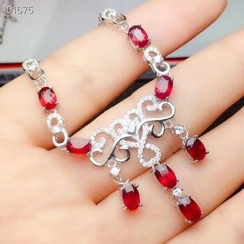 ab2e3e8626b3 KJJEAXCMY boutique de la joyería de plata 925 con incrustaciones de rubí  Natural de gran collar apoyo de detección