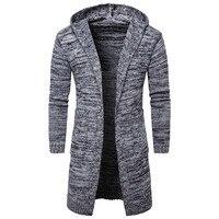 2017 New Thicken Hoodie Sweatshirt Men S Autumn Winter Warm Long Cardigan Jacket Men Trendy Cotton