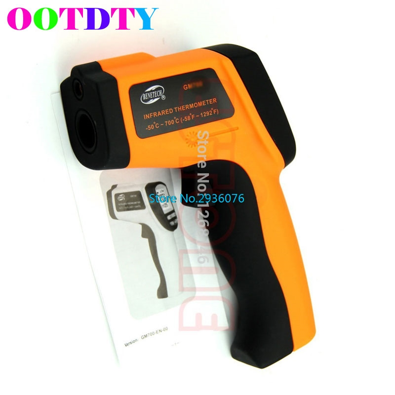 OOTDTY GM900 Non-Contact LCD IR Laser Digital Infrared Thermometer Temperature Gun APR5_30 цена