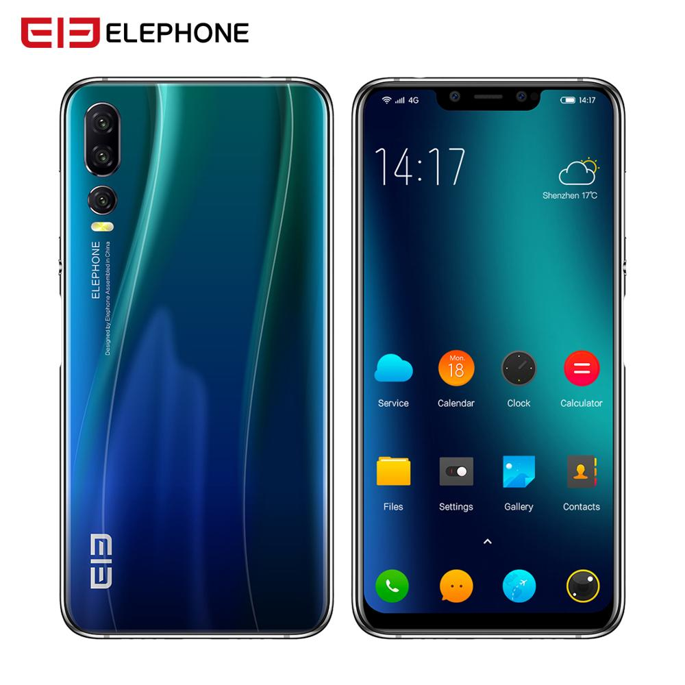 Elephone A5 6GB 128GB SmartPhone Android 8.1 MTK6771 Octa Core 6.18 Inch FHD+ U Notch Screen 20MP camera 4000mah 4G Mobile phone