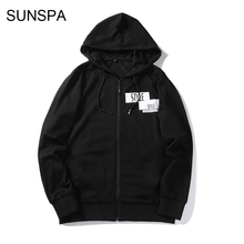 SUNSPA 2017 New Spring Autumn Hoodies Men Fashion Brand Pullover Solid Color Turtleneck Sportswear Sweatshirt Men'S Tracksuits