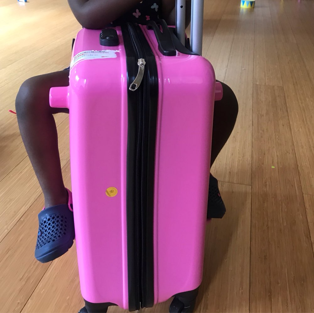 Can Sit, Slide Suitcase Wheels High Quality Children Rolling Luggage Spinner Kids Travel Bags