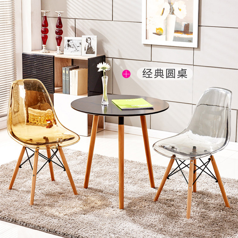 Fashion Dining Chair Set of 2pc Modern Style PP Seat Dining Room Plastic Meeting Conference Transperent Leisure Side Chair helix dining chair anti black gold set of 2