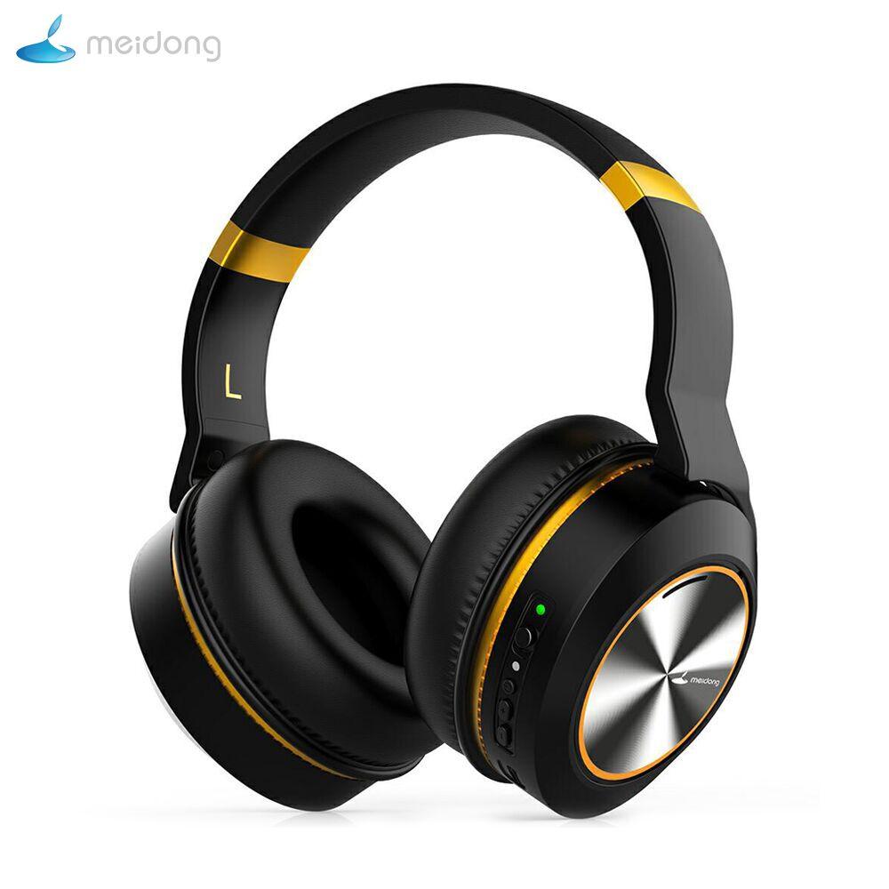 Meidong E8E Attiva del Rumore di trasporto Che Annulla Bluetooth Cuffie Over Ear Auricolare Senza Fili con Il Mic HiFi Stereo Dei Bassi Profondi Auricolare