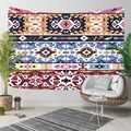 Else Blue Brown Red persa auténtico Kilim 3D patrón estampado decorativo Hippi bohemio colgante de pared tapiz de paisaje arte de pared