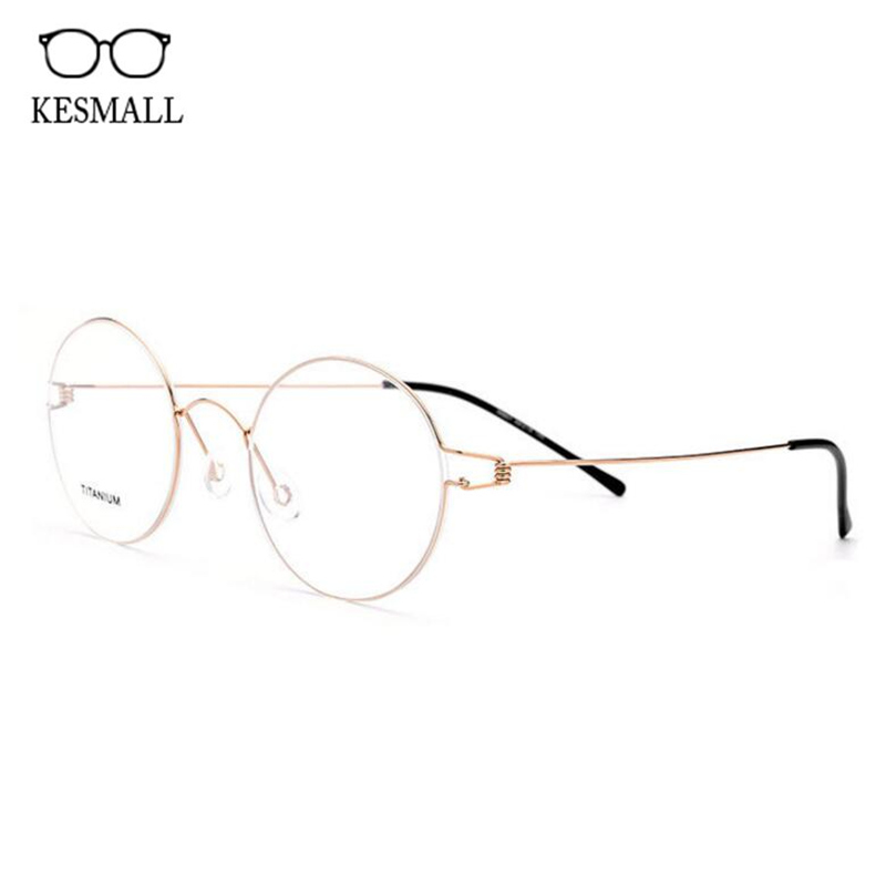 Здесь продается  KESMALL Fashion Prescription Diopter Glasses Brand Design Men Women Titanium Alloy Retro Spectacle Frame With Myopia Lens XN77P  Одежда и аксессуары
