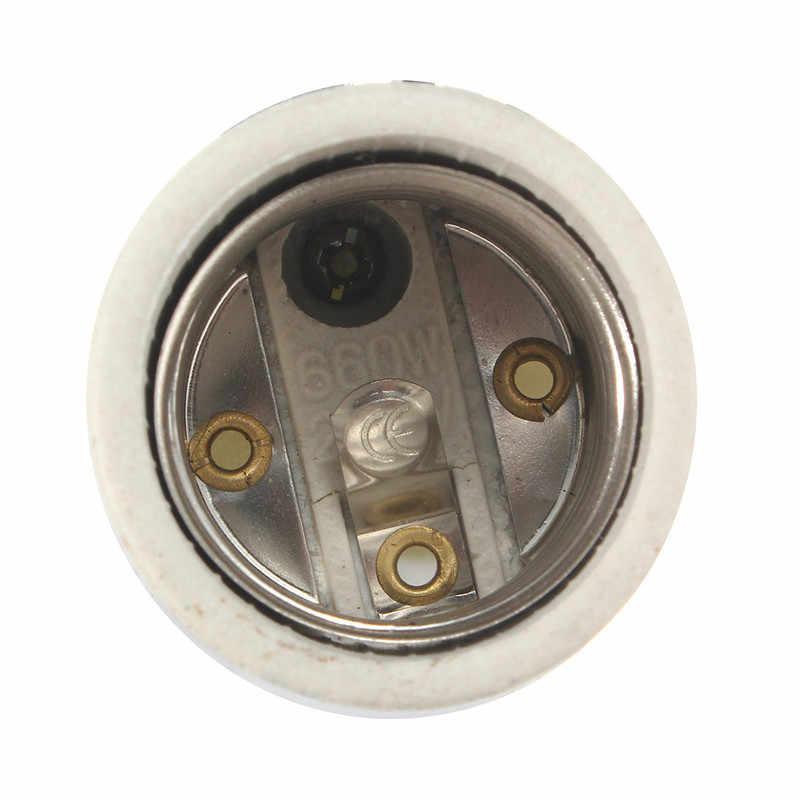 Ceramic Heat Lamp Fitting Base Lamp Base E27 Lampholders Socket Wire Light Bulb Lamp Holder Converter