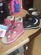US $40.31 16% OFF Princepard Echtem Leder Jungen Orthopädische Schuhe sommer navy Kinder Sandalen Kind Baby Sandalen baby kinder jungen schuhe Größe