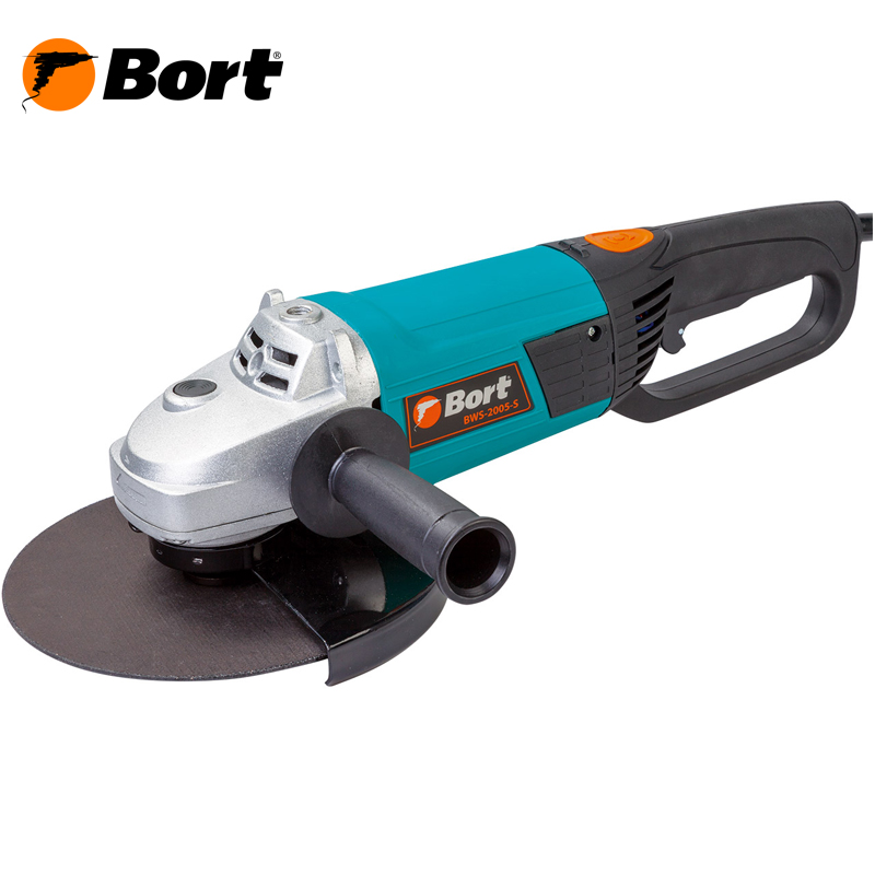 BORT Angle Grinder bulgarian USHM Grinding machine Electric grinder Angle Grinder grinding Power or cutting metal portable Woods Steel Power Tool Warranty BWS-2005-S air compressor die grinder grinding polish stone kit air angle die grinder kit pneumatic tools