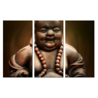 Buddha Triple Painting Full Square 5D DIY Diamond Painting Religious Buddha Picture Cross Stitch Diamond Embroidery