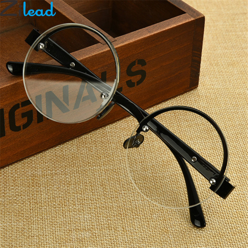 3.5 2.5 Zilead Retro Half-frame Round Reading Glasses Brand Myopic Lens Eyewear Glasses Presbyopia 1.0 3.0 4.0 Elegant And Sturdy Package 2.0 1.5