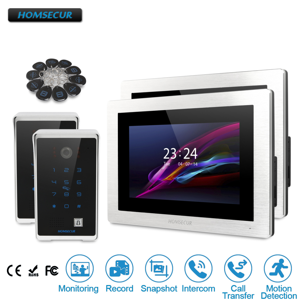 """HOMSECUR 7"""" Wired Hands-free Video Door Entry Security Intercom+Password Access   BC081 + BM714-S"""