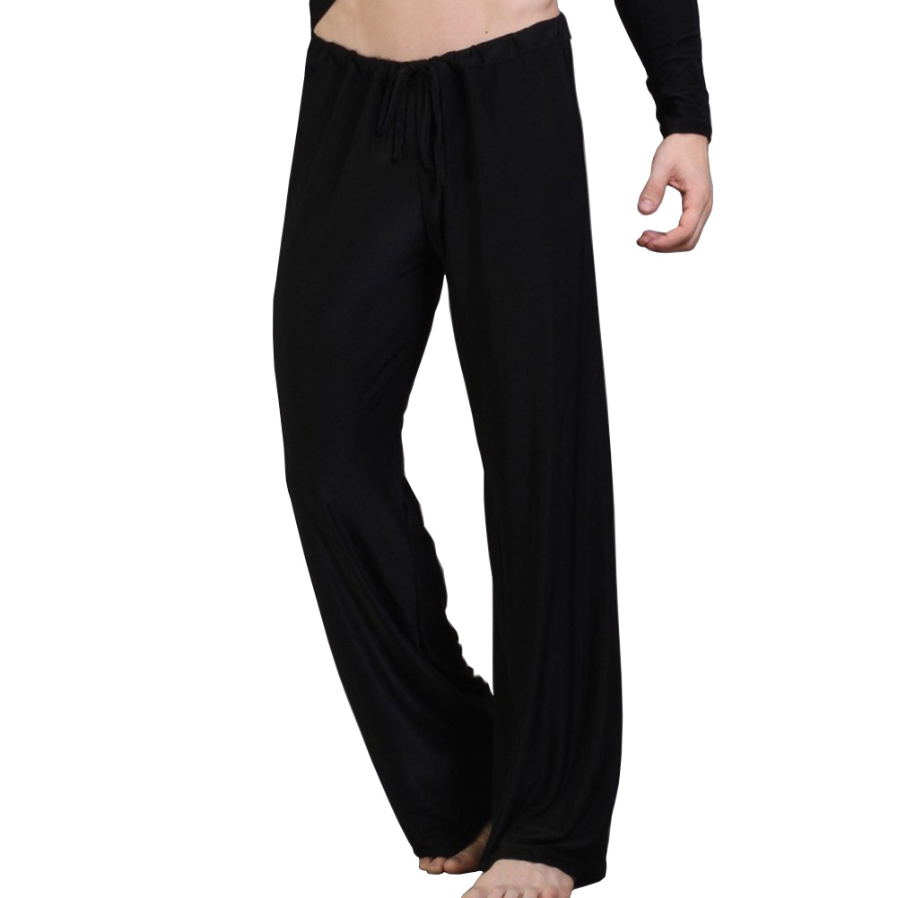 Famous Brand Smooth Loose Low Waist Sleep Bottoms For Man Sexy Mens Underwear Home Long Pants Plus Large Size 2XL ...