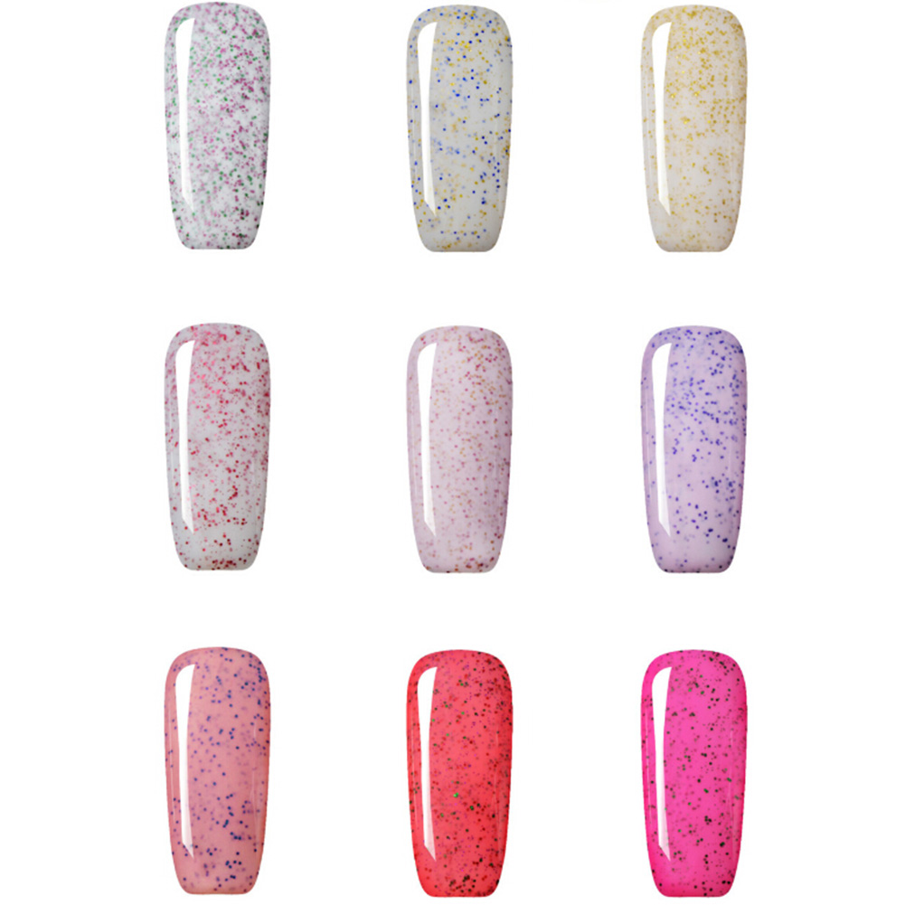 24 Colors Granulated Sugar Nail Gel Polish UV Led Soak Off Gel Polishes Long-lasting High Quality Nail Art Gel