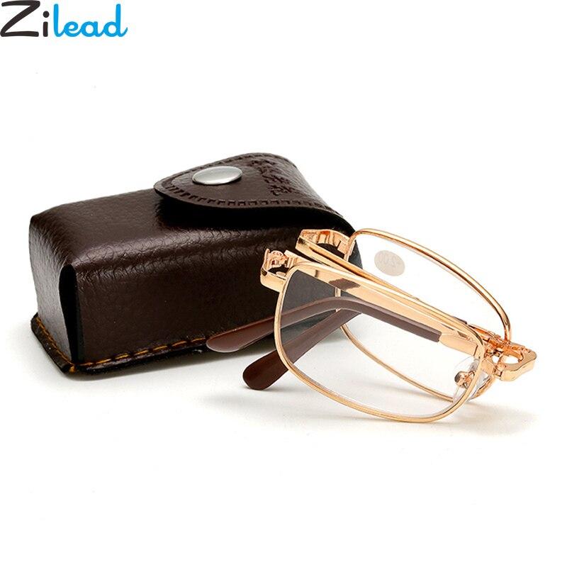 Zilead Alloy Foldable Reading Glasses Women&Men Presbyopic  Eyeglasses Hyperopia Eyewear Oculos De Grau With Case Gifts