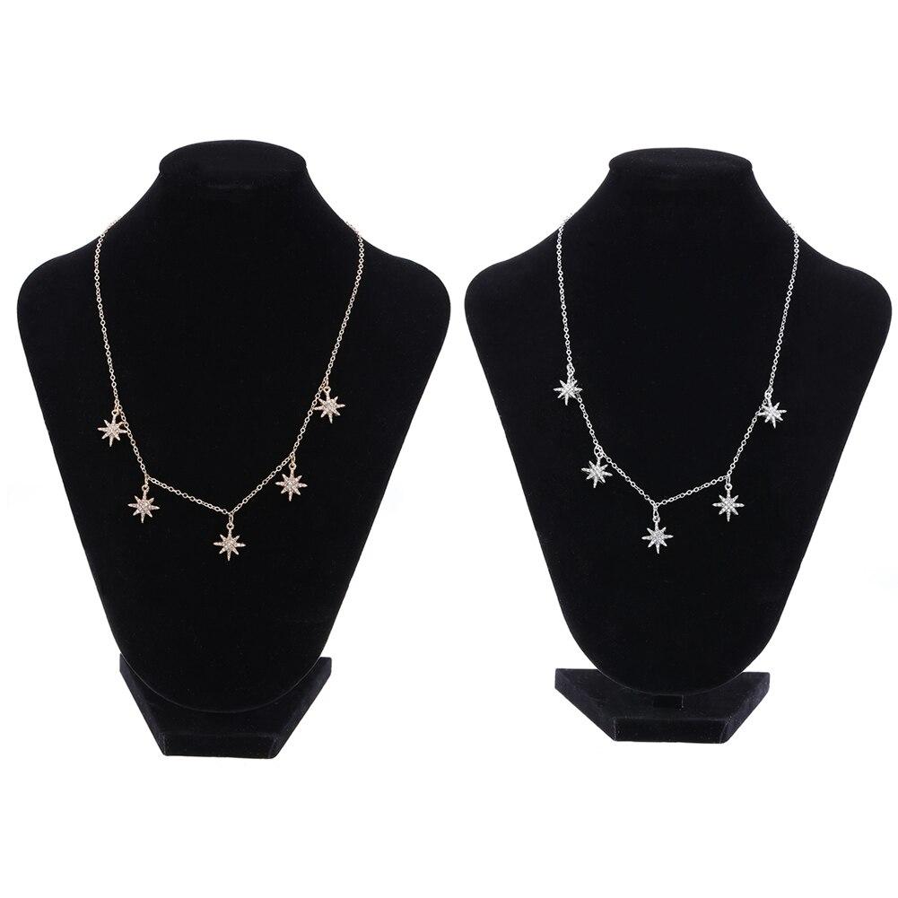 Simple Star Shape Choker Necklaces for font b Women b font Metal Stars Pendant Fashion font