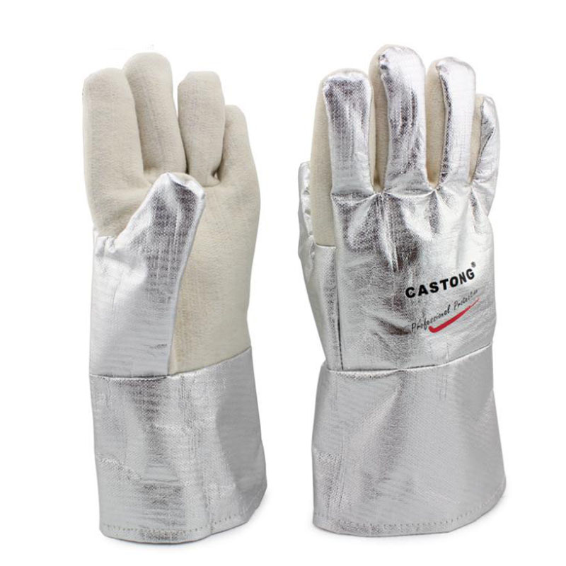 300-400 Degree Industrial Heating Ggloves High Temperature Fire Gloves GM01220