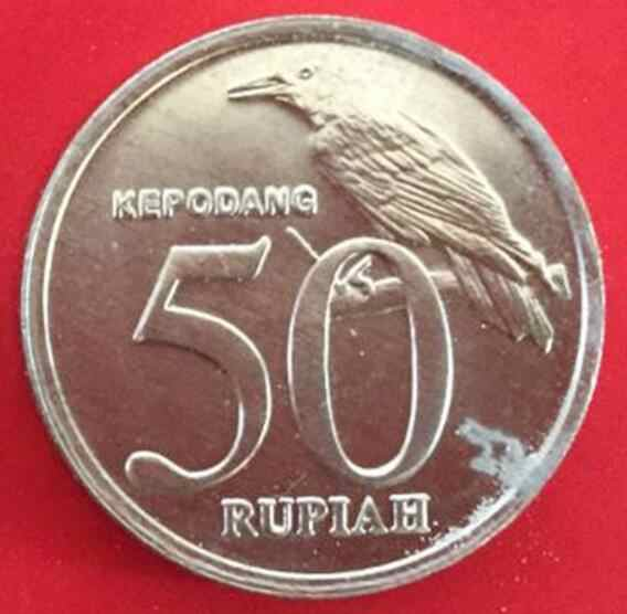 20mm 50 Moeda Rupia Indonésia Ásia