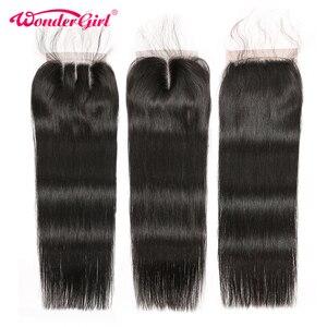 Image 3 - ברזילאי ישר שיער חבילות עם סגירת וונדר ילדה רמי שיער טבעי חבילות עם סגירת יכול להיות מותאם אישית לפאה