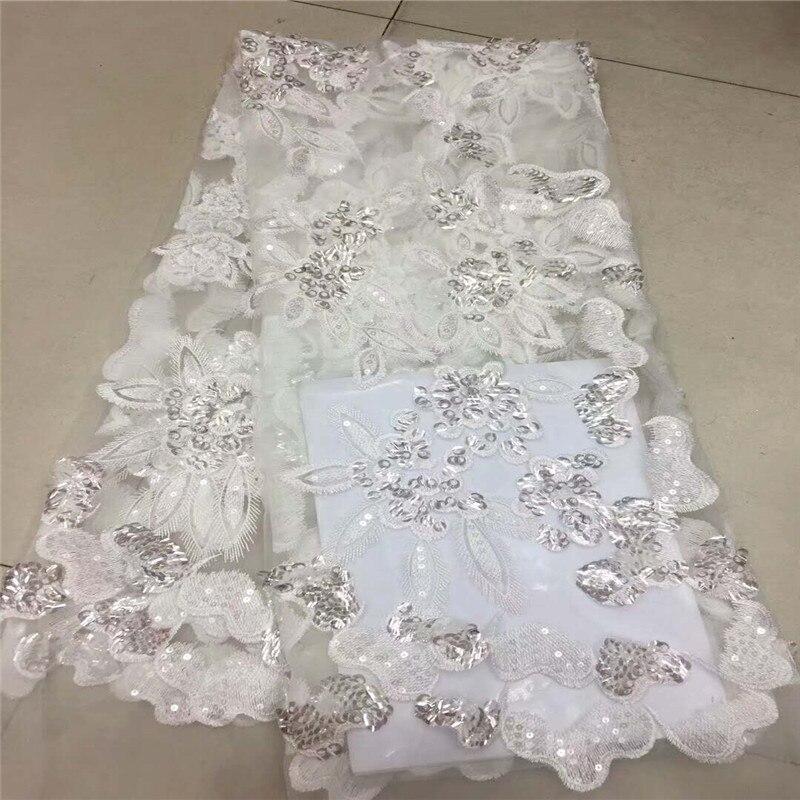Sequin Tissu pour toile de fond Blanc et Or Broderie Réversible Sequin Tissu Flip Up Sirène Tissu Stretch Style DIY HJ852-1