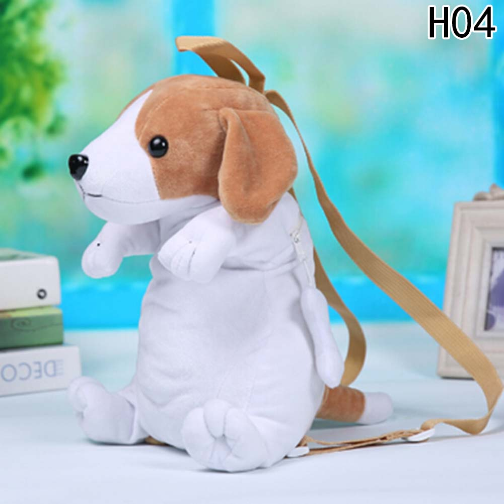 Kids Cute Cartoon Canine Puppy Dogs Backpack Boy Plush 3D Kindergarten Small School Bag For Children Toys Birthday Gift nohoo baby 3d cartoon hip hop monkey backpack waterproof lovely gift f children girl boy kindergarten school animal chest bag 25