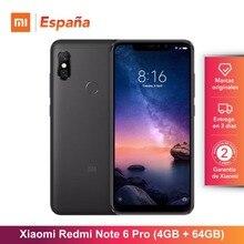 [Глобальная версия для Испании] Xiaomi Redmi Note 6 Pro (Memoria interna de 64 GB, ram de 4 GB, bateria 4000, Cuatro camaras IA) Movil