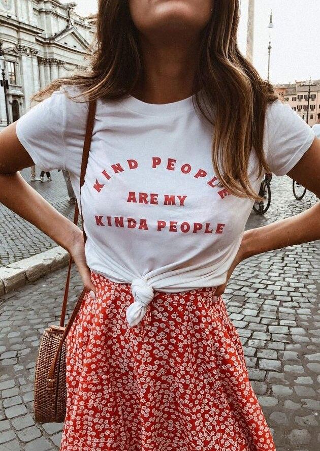 Art Menschen Sind Meine Irgendwie Menschen T-Shirt junge damen frauen mode 90 s mädchen geschenk slogan feministe grunge tumblr tees zitat tops
