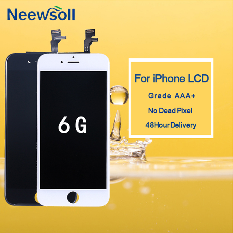 10 pcs/lot pour IPhone 6 LCD assemblée écran pas de Pixel mort pour iPhone 6 affichage avec écran tactile numériseur noir blanc
