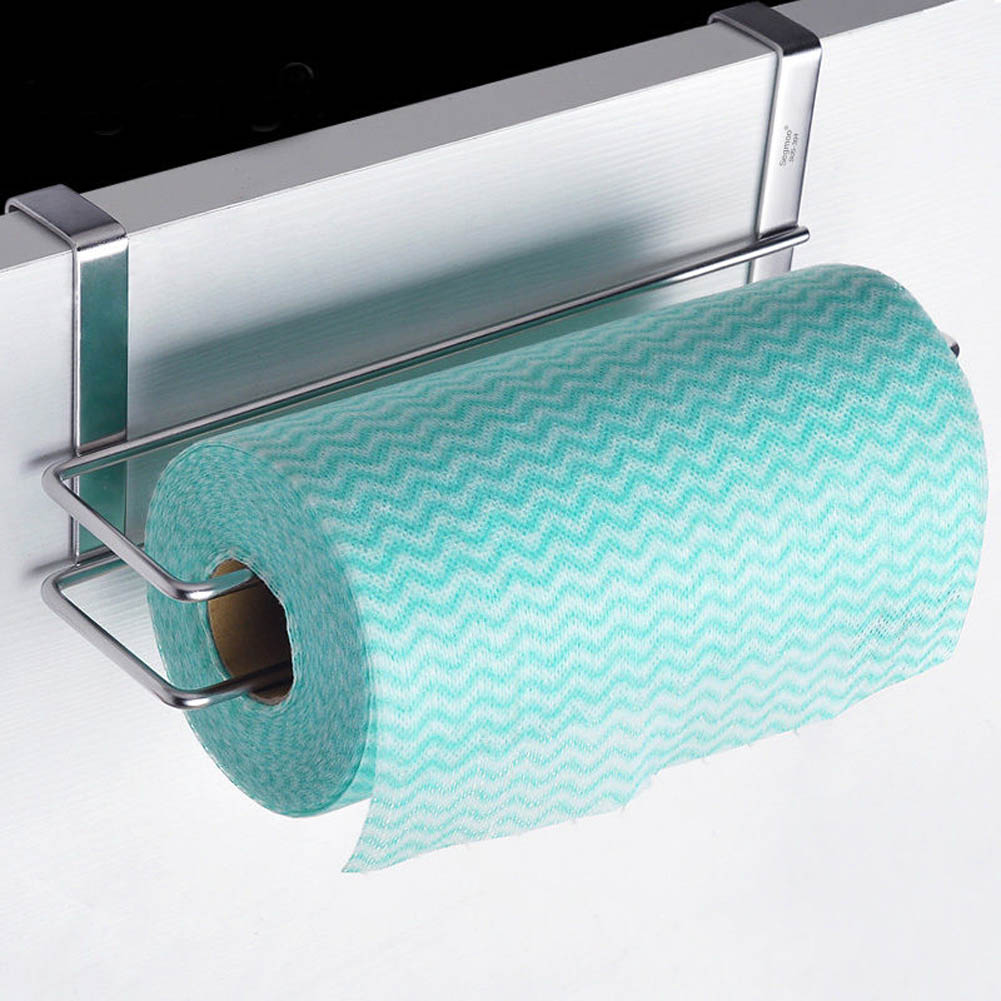Stainless Steel Paper Towel Rack Toilet Roll Paper Holder Bathroom ...