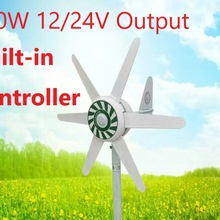 300W turbina wiatrowa certyfikat CE 15-20 lat żywotność 12V/24V 6 ostrza